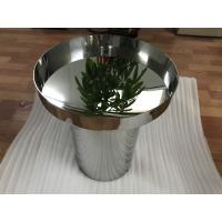 China high standard metal furniture customized stainless steel table with mirror or brushed finish wholesale