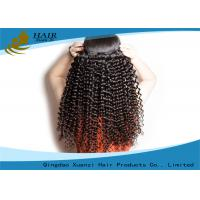 China Unprocessed Virgin Brazilian Hair Extension 100g Kinky Curl Human Hair Weft wholesale