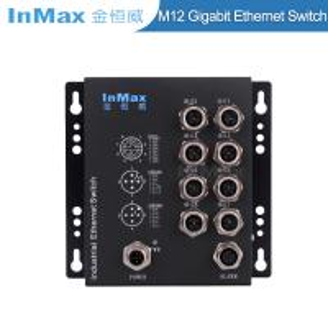 China EN50155 M508B X-code 1000Mbps 8 Port M12 Railway Gigabit Industrial Ethernet Switch wholesale