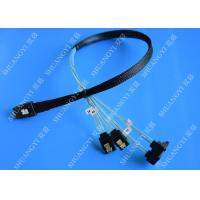 China SFF 8087 al cable atado serial 500m m de SATA SCSI 30 Pin del AWG 28 para el servidor wholesale