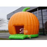 China Halloween Inflatables Giant Pumpkin Kids Bounce House Double for outdoor party wholesale