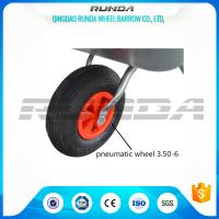 China Light Duty Small Size Pneumatic Swivel Wheels 25% Rubber Contain For Wheelbarrow wholesale