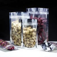 China Recyclable Plastic Ziplock Bags Clear Foil Stand Up For Food Packaging wholesale