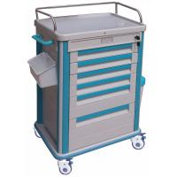 China 6 Drawers ABS Medical Equipment Trolley With 4 Plastic-Steel Columns wholesale