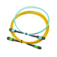 Buy cheap 12 Core MPO MTP Cable , Yellow Color Trunk Fiber Optic Cable Assemblies For SFP from wholesalers