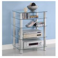 China Glass Component Media Stand Modern Television Stands For Home DX-8707 on sale
