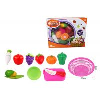 China 12 Pcs Pretend Role Play Children's Play Toys for Kitchen Fruit Vegetable Cutting wholesale