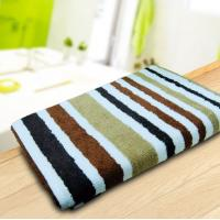 China Red / White Cotton Beach Towels Jacquard Pool With Stripe Design wholesale