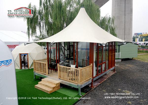 Quality White color 20 square meter Outdoor Party Tent for Temporary glamping tent for sale