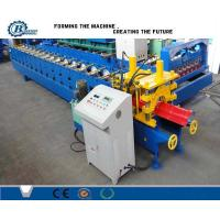 China Galvanized Construction Metal Step Riged Cap Roll Forming Machine PLC Control wholesale