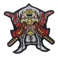 China 3D Adhesive Iron On Embroidery Patch Customized Logo For Clothing  Hat on sale