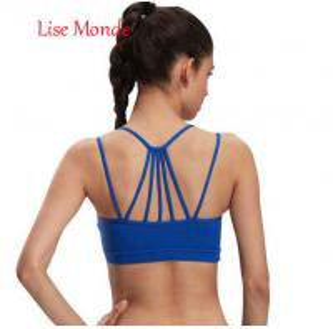 China Women Sports Bra Top For Running Sexy Gym Vest Push Up Underwear Fitness Yoga Bra Workout Tank Top Sport Brassiere on sale