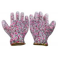 China Polyester Garden Work Gloves , Paint Printing Polyurethane Coated Gloves wholesale