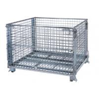 European type industrial stackable wire mesh container for storage container