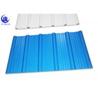 China Trapezoidal Wave Type PVC Plastic Roofing Sheets 3 Layer Heat Insulated wholesale