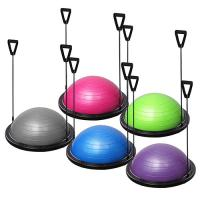 China Durable Gym Equipment Half Ball Fitness Strength Exercise Resistance Bands Pump on sale