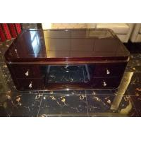 China Rectangle Hotel Coffee Table Classical Style High Gloss Ebony Wood Veneer Material wholesale
