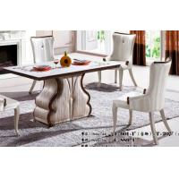 China restaurant modern rectangle 6 seater marble dining table furniture wholesale