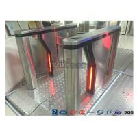 China Anti - Collision Bi - directional Drop Arm Turnstile RFID Card Single Pole Turnstile on sale