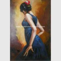 China Hand Painted Spanish Oil Painting / Female Painting Flamenco Dancer Canvas Art wholesale
