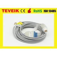 China Reusable HP 5 Leads ECG Cable for patient monitor with Round 12 Pin Connector wholesale