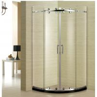 China Stainless Steel 304 Shower Cubicle 900*900 Round Sliding Shower Enclousure wholesale