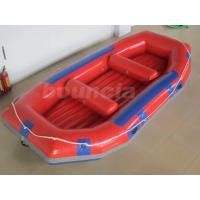 China Red Inflatable Rafting Boat , Inflatable Dinghy Boat For Fishing Or River wholesale