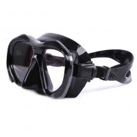 Quality Black Food Grade Diving Snorkel Set With Full Flex Section And Comfortable Mouth Piece for sale