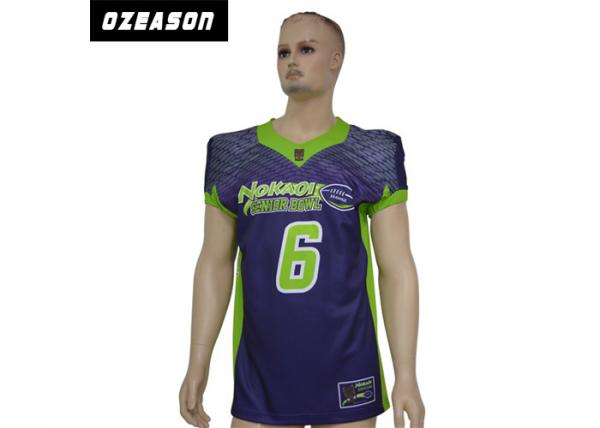 Quality V Neck Full Sublimation Soccer Football Jerseys 3XS-4XL Moisture Absorption for sale