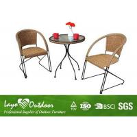 China Water Proof Patio Outdoor Furniture Set With 5 - 8 Mm Thickness Transparent Glass Table wholesale