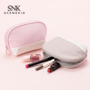 China Professional Custom Portable Small Shell Shape Canvas Zipper Cosmetic Bag wholesale