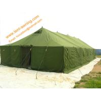 Quality Outdoor Pole-style Galvanized Steel Waterproof Canvas Military Tent for sale