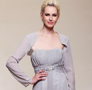 China Long Sleeves Chiffon Bridal Shawl on sale