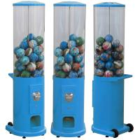 China Metal Base Coin Operated Gumball Machine 30*30*50CM Customized Color wholesale