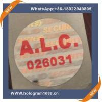 Laser hologram waterproof  anti-fake label  sticker, custom tamper proof hologram stickers