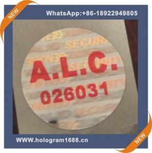 China Laser hologram waterproof  anti-fake label  sticker, custom tamper proof hologram stickers wholesale