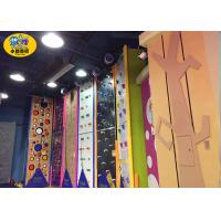 China Commercial Indoor Kids Rock Climbing Wall High Strength Steel Frame And Plate wholesale