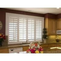China China Aluminum or PVC material white color plantation louver window shutters wholesale