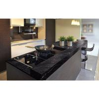 China Granite Countertops In Kitchen , Agatha Black Granite Countertop Polish Finished wholesale