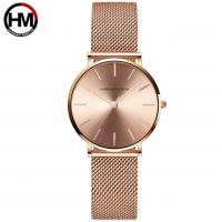 China High quality waterproof IP Rose Gold steel mesh fashion hot sale luxury lady watch CH36-W on sale