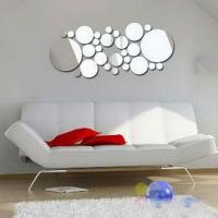 Eco-friendly 40 * 60cm Removable CM-144 Bubble Shaped Wall Mirror Sticker