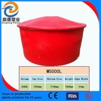 China 5000L red&white large rotomolded round tanks with lid wholesale