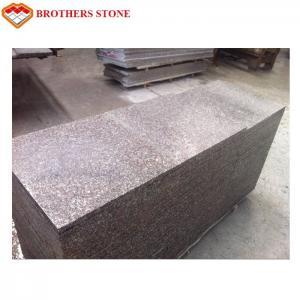 China Custom Peach Flower Red Granite Tiles , G687 Granite Tiles For Bathroom Floor on sale