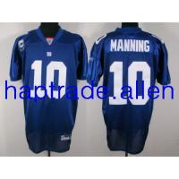 China SOCCER jersey wholesale 100% Nylon Mesh New York Giants 10# Eli Manning Authentic jersey with C patch Blue football jerseys on sale