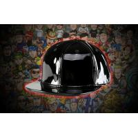 China Vintage light Black blank leather SNAPBACK Plain leather HAT CAP FOR SALE wholesale