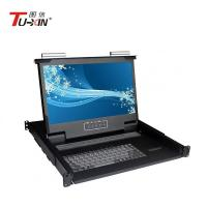 China 1920 X 1080 Rackmount LCD KVM Drawer AC100 - 240V Adjustable Slide 480*530*44mm wholesale