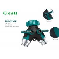 China Water Tube Plastic Tap Connector , Y Piece Hose Splitter Two Way 3/4 Inch wholesale