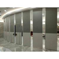 China Nature Wood Veneer Finish  Acoustic Aluminum Frame100MM Thickness Movable Partition Wall wholesale