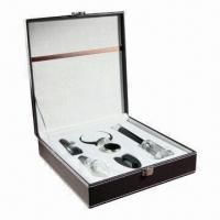 China Air Pressure Wine Opener Gift Sets with Foil Cutter, Wine Pourer and Wine Stopper wholesale