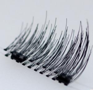 China New style hand made single or double magnet free glue magnetic eyelashes wholesale